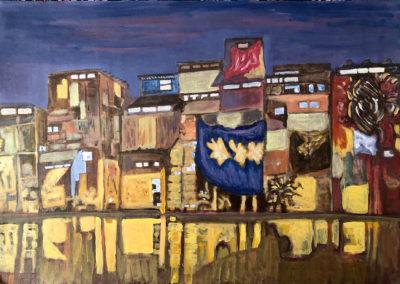 Dharavi Slum facade