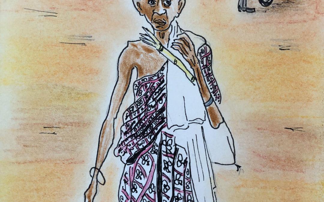 Lady devotee in Puri, Orissa