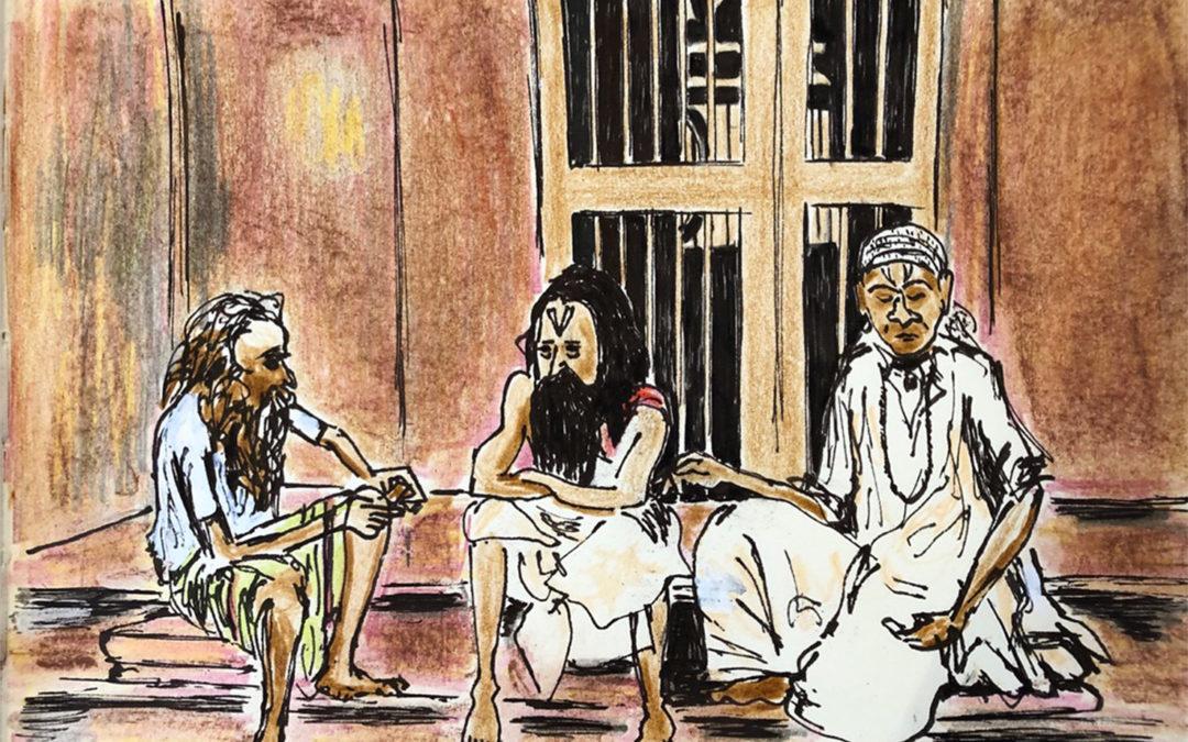Swamis in conversation Puri, Orissa