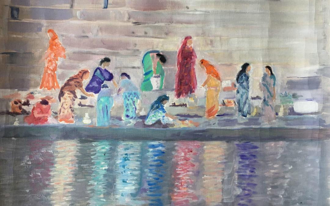 Women on Benares ghats